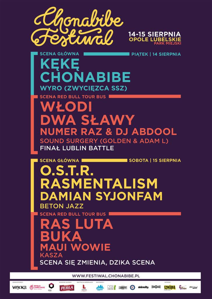 chonabibe festiwal plakat