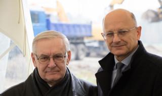 Prezydent Lublina, Pan Krzysztof Żuk z Dyrektorem Zarządu Dróg i Mostów w Lublinie, Panem Kazimierzem Pidek