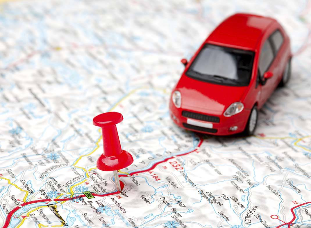 car-on-map