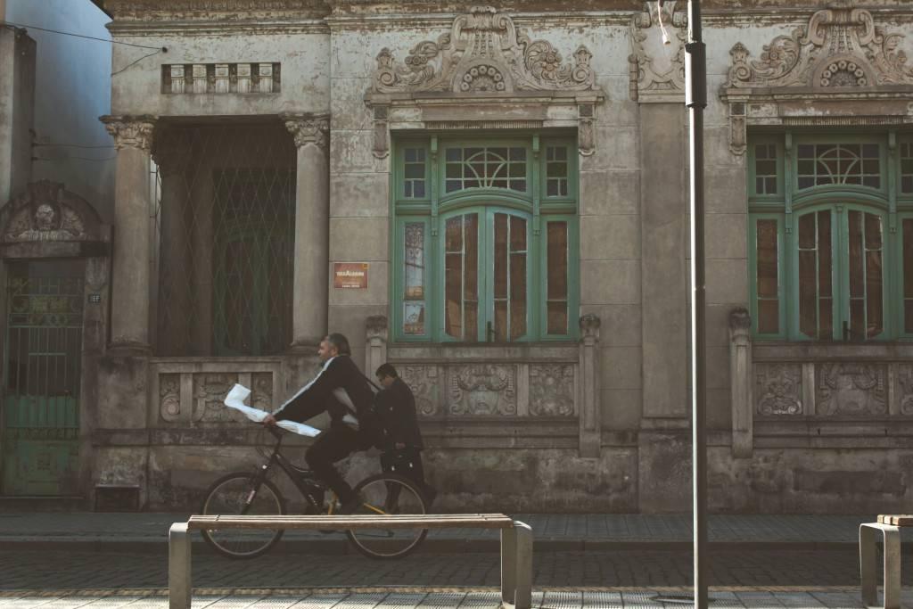 people-building-historical-bike