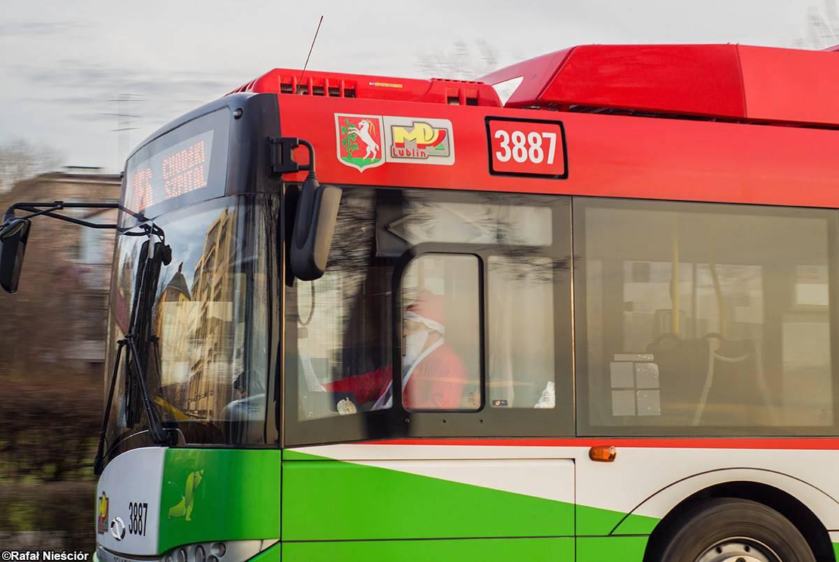 mikołaje za kierownicą autobusów mpk lublin