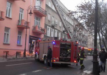 Pożar na ul. Narutowicza w Lublinie
