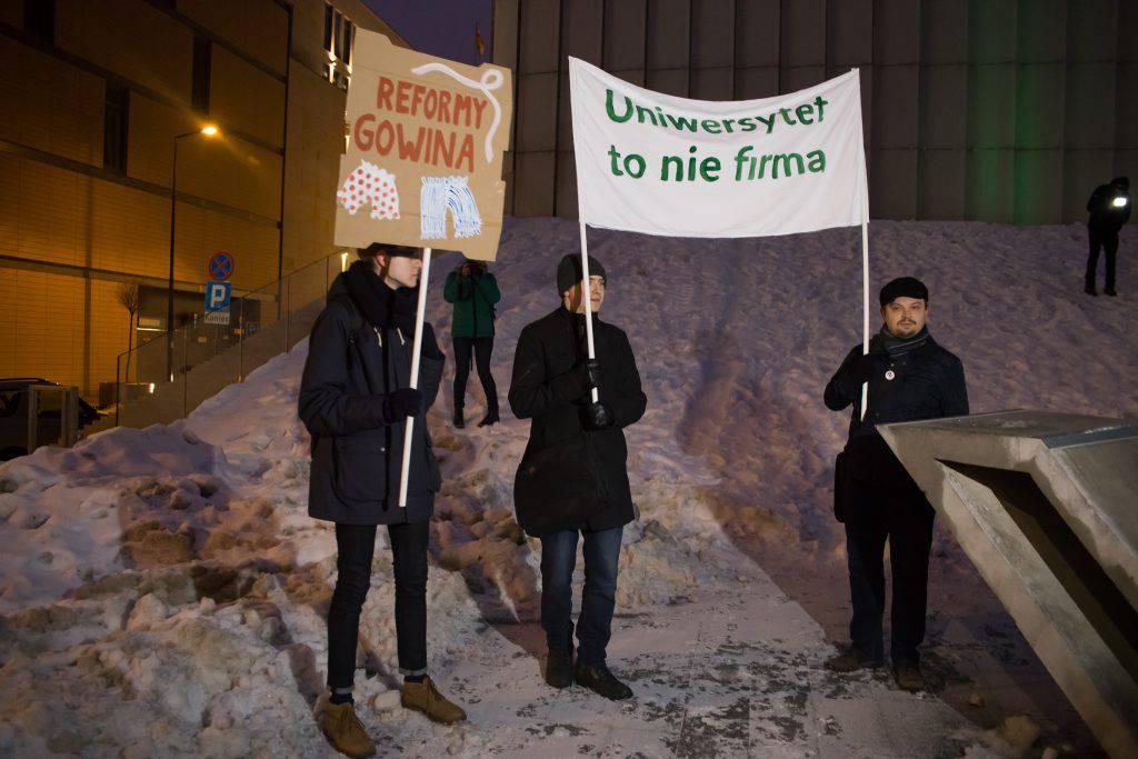 protest studentów w lublinie