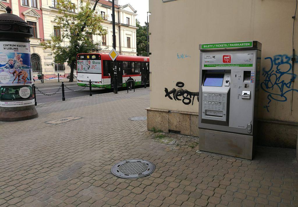 Biletomat ZTM w Lublinie