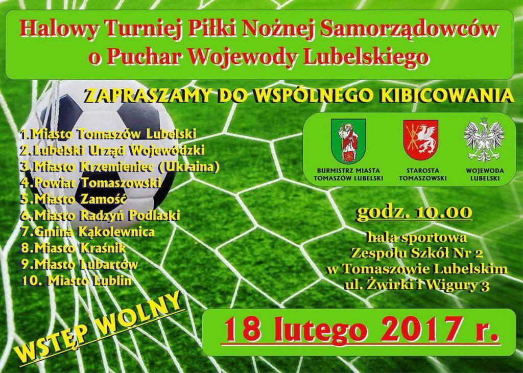 Halowy Turniej Piłki Nożnej Samorządowców o Puchar Wojewody Lubelskiego