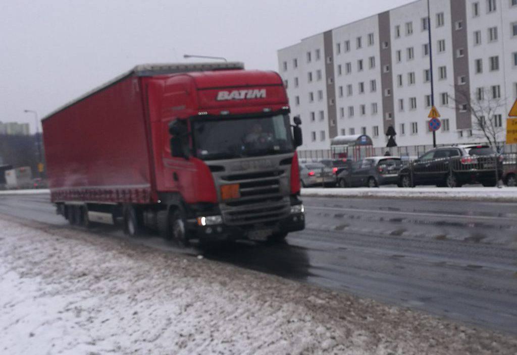 zakaz wjazdu ciężarówek