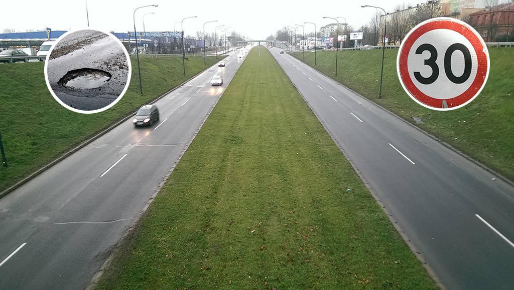 Ograniczenie prędkości do 30 km/h na al. Witosa w Lublinie | fot. Dominik Wąsik
