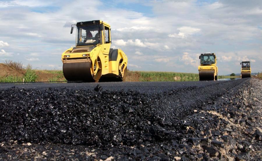budowa droga walec asfalt