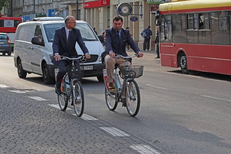 Prezydent Lublina, Krzysztof Żuk na rowerze