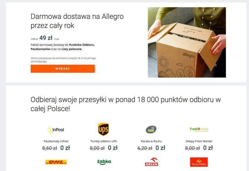 Allegro Smart Darmowe Przesylki Na Allegro Przez Rok Za 49 Zl