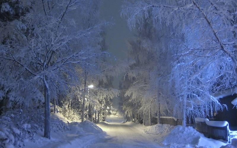 zima mróz śnieg