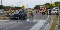 Wypadek na al. Tysiąclecia 01.08.2019