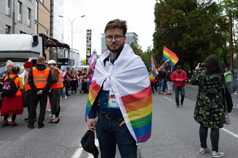 Bartosz Staszewski - organizator Marszu Równości w Lublinie