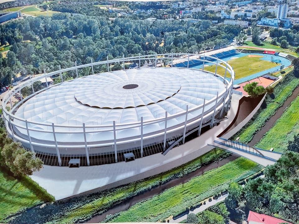 Wizualizacja nowego stadionu żużlowego przy ul. Krochmalnej w Lublinie