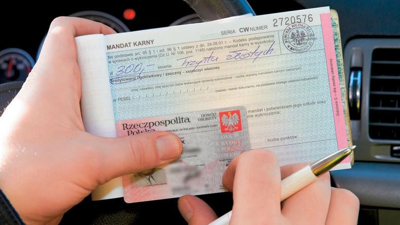 mandat karny kierowca właściciel