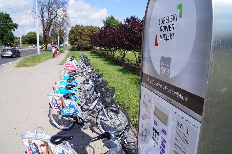 lubelski rower miejski LRM rowery miejskie lublin stacja