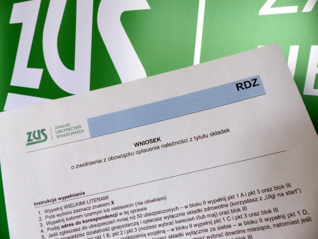 Wniosek ZUS o zwolnienie z obowiązku opłacania należności z tytułu składek