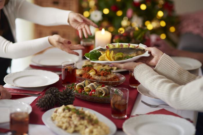wigilia stół potrawy
