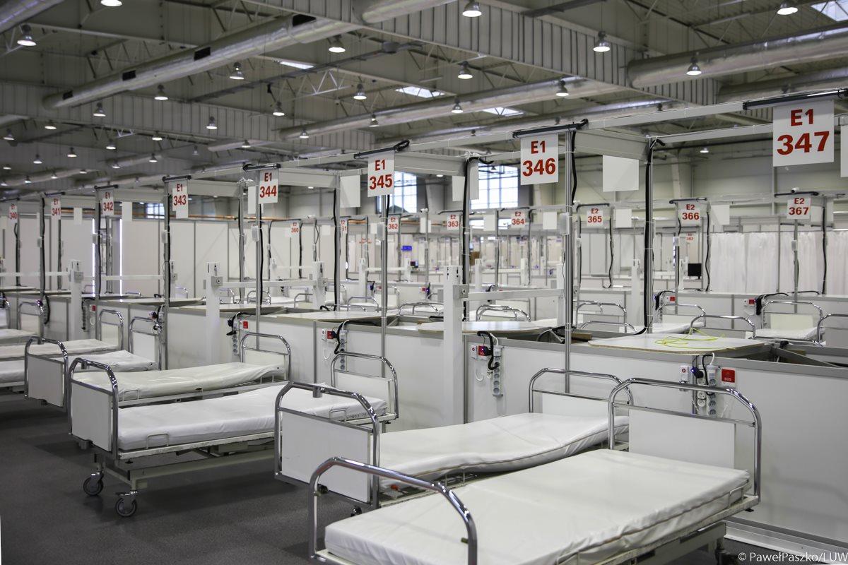 Szpital tymczasowy w Targach Lublin | fot. Katarzyna Link / LUW