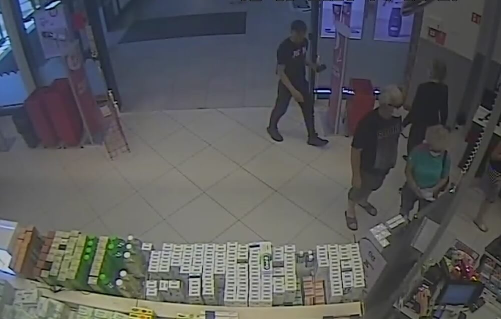kradzież rossmann złodziej