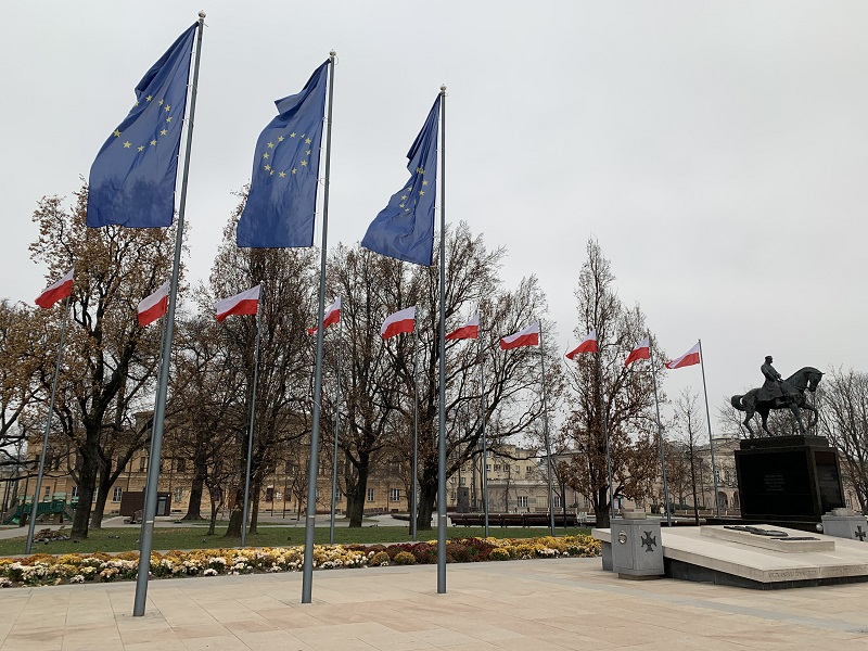 Flagi na Placu Litewskim
