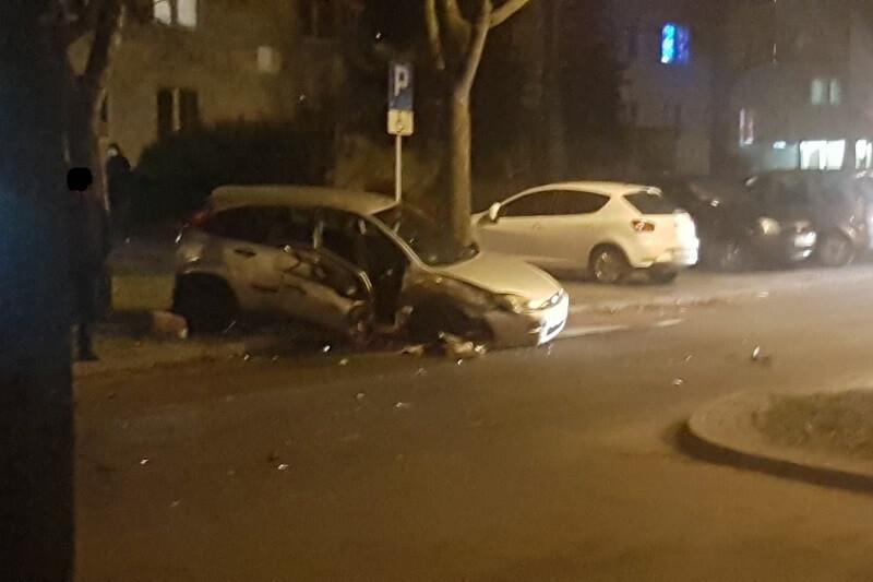 Wypadek na ulicy Paganiniego w Lublinie