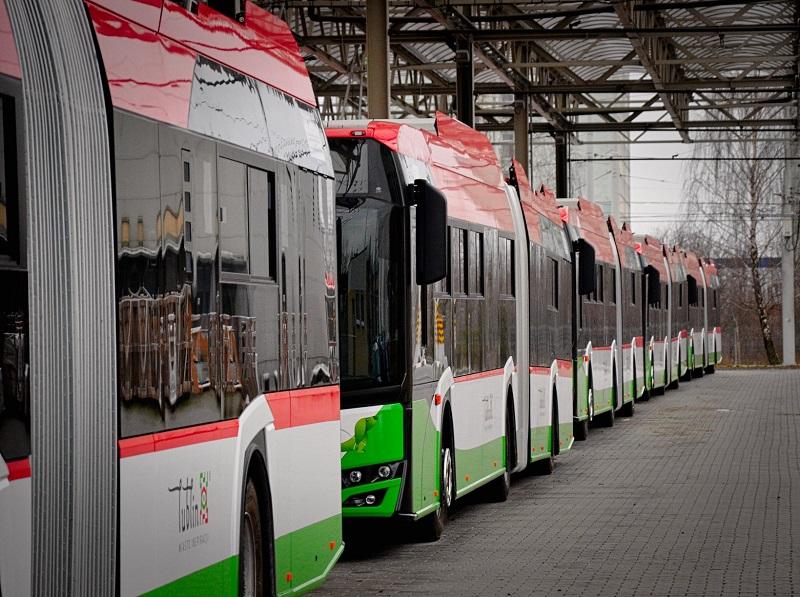 Do Lublina dotarła pierwsza dostawa trolejbusów marki Solaris Trollino 18M | Miasto Lublin