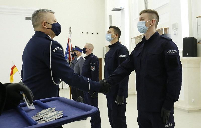 Pierwsze w 2021 roku ślubowanie nowych policjantów w województwie lubelskim | fot. KWP Lublin