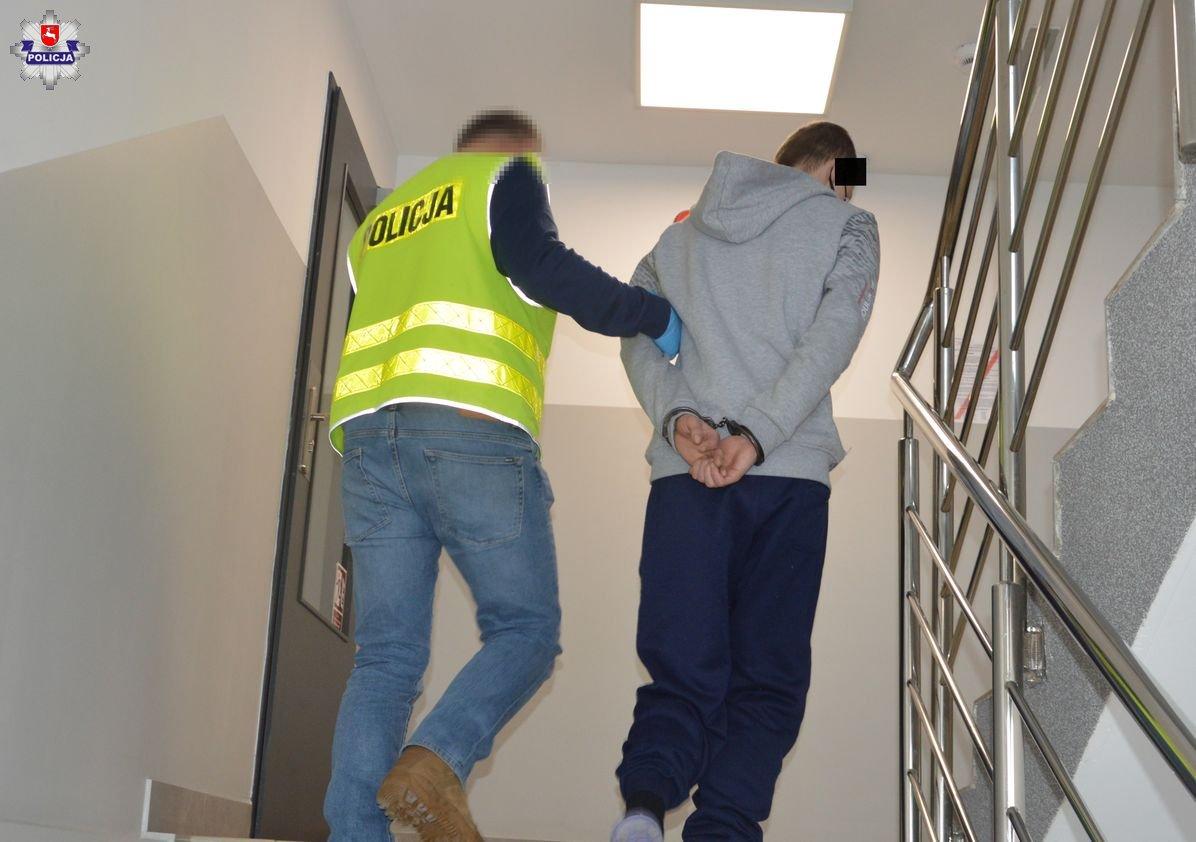 26-latek napadł na idącą chodnikiem kobietę | fot. KPP Hrubieszów