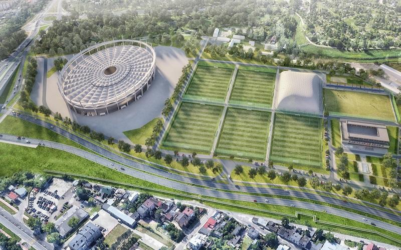 Lubelska Akademia Futbolu - wizualizacja