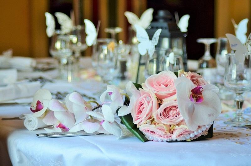 bukiet wesele przyjęcie jedzenie
