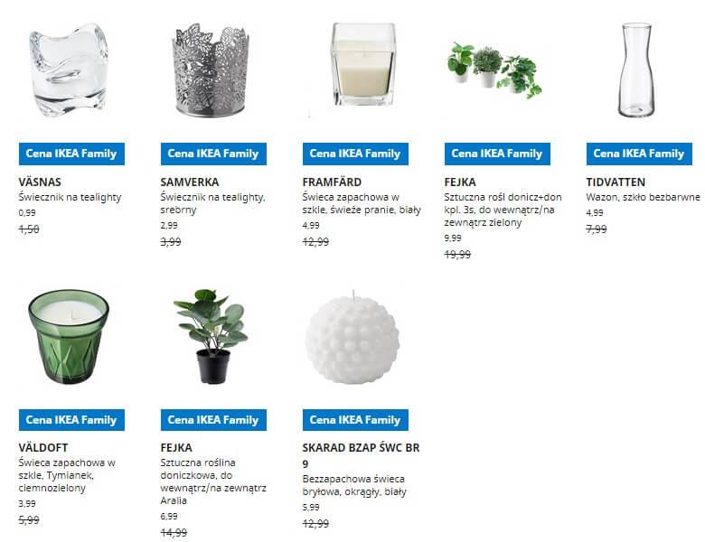 IKEA Lublin wyprzedaż produktów z kategorii Dekoracje