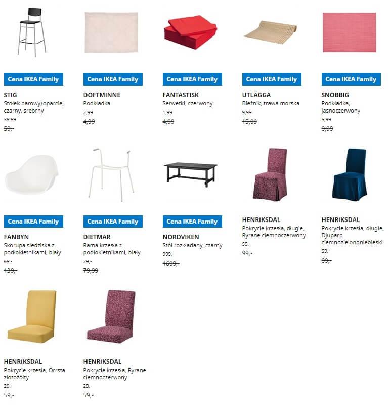 IKEA Lublin wyprzedaż produktów z kategorii Jadalnia