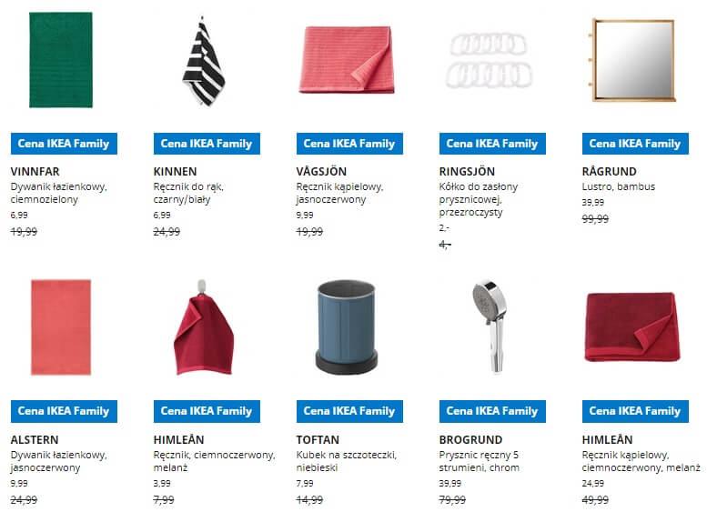 IKEA Lublin wyprzedaż produktów z kategorii Łazienka