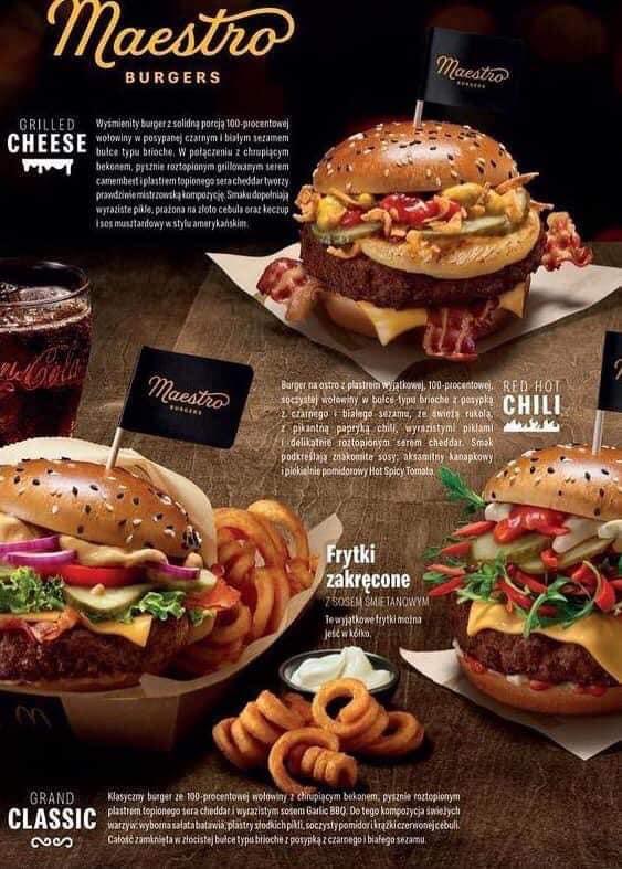 Maestro burgery w McDonald's
