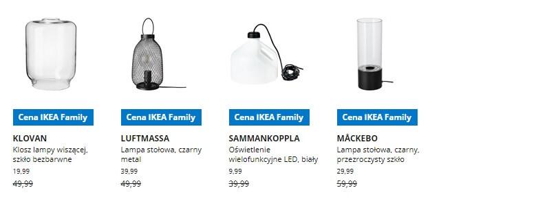 IKEA Lublin wyprzedaż produktów z kategorii Oświetlenie