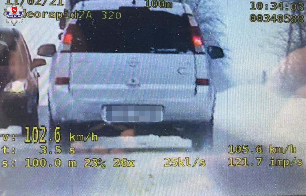 Kierowca opla stracił prawo jazdy na trzy miesiące | fot. KPP Świdnik