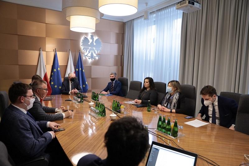 Spotkanie Rzecznika MŚP i przedsiębiorców z wicepremierem Jarosławem Gowinem   fot. MRPiT