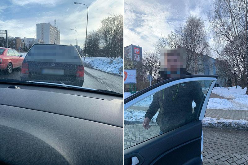 Kierowca volkswagena groził instruktorowi nauki jazdy pobiciem za zwrócenie uwagi | nadesłane
