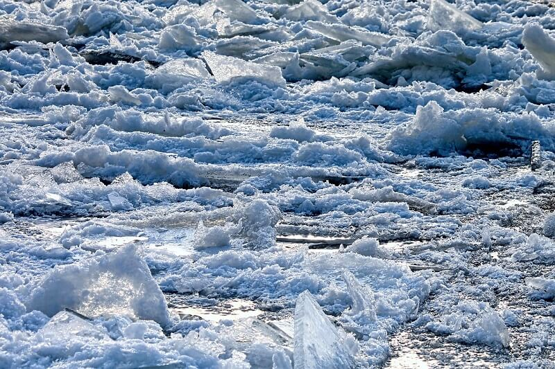 lód rzeka kra roztopy
