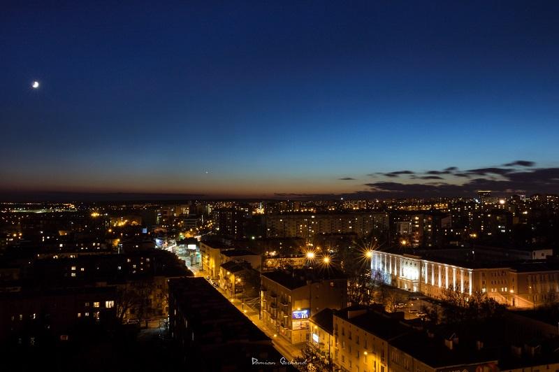 Panorama Lublina z dachu hotelu Victoria   fot. Damian Gerhand