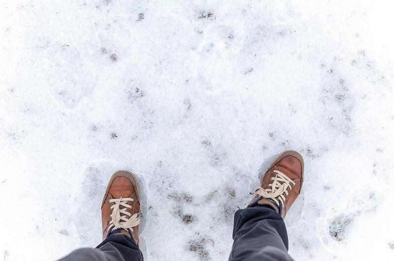 zima śnieg lód ślisko gołoledź