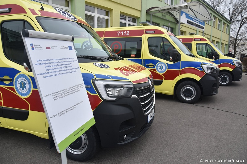 Nowe ambulanse dla Pogotowia Ratunkowego w Lublinie | fot. Piotr Wójcik, UMWL