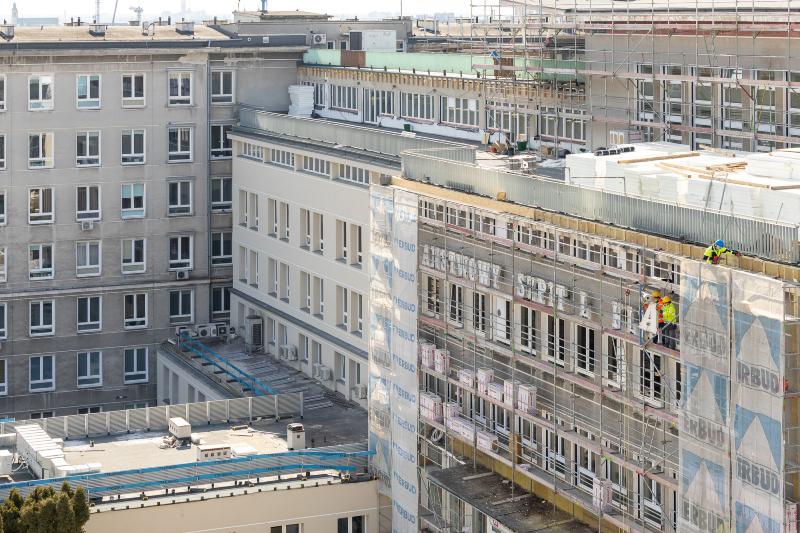 Remont elewacji SPSK 4 przy ul. Jaczewskiego | fot. Łukasz Głaczkowski