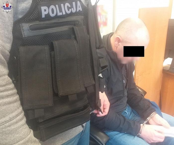 Zatrzymany 41-letni właściciel mieszkania | fot. KMP Lublin