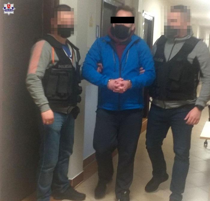 Zatrzymany 42-latek | fot. KMP Lublin