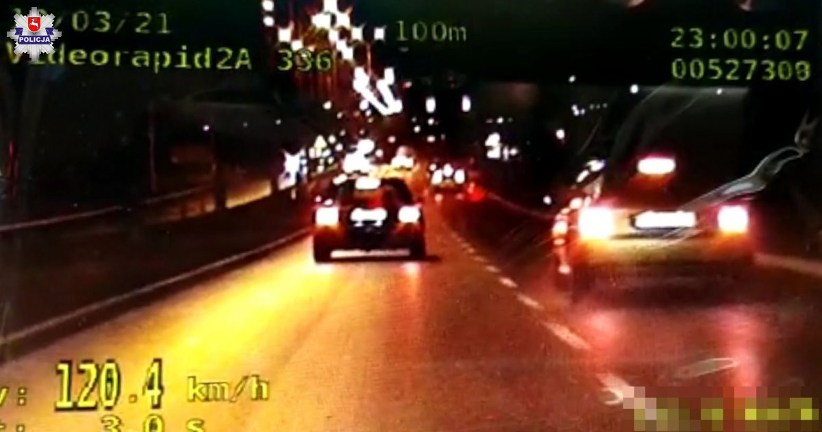 Policjanci grupy SPEED zatrzymali piratów drogowych   fot. KMP Lublin
