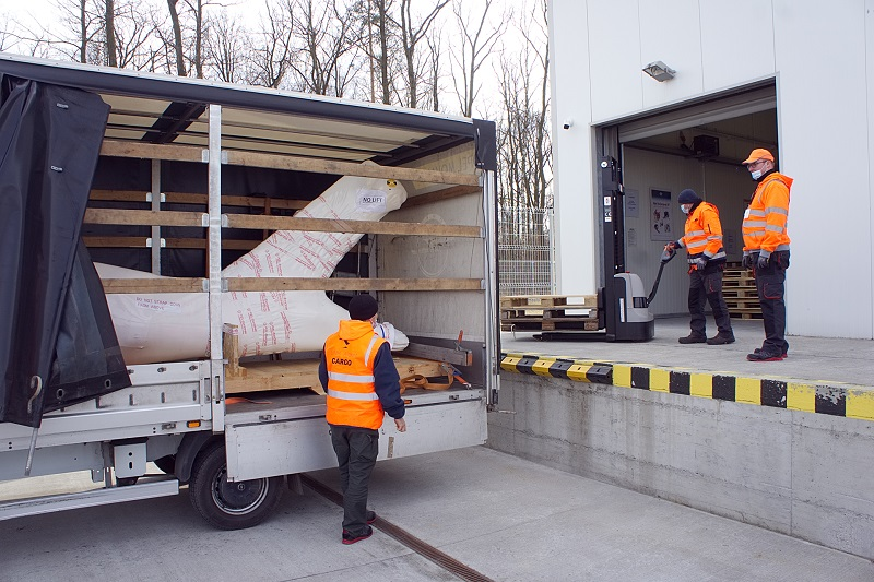 Belka ogonowa śmigłowca wysłana z lubelskiego lotniska do USA
