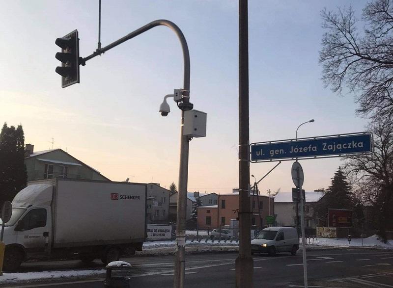 Kamera na skrzyżowaniu al. Warszawska i Generała Zajączka