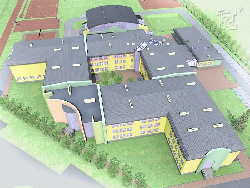 Rozbudowa Szkoły Podstawowej nr 52 na Felinie - wizualizacja